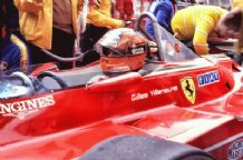 Gilles Villeneuve Cockpit close up Monaco 1980 Ferrari 312T5
